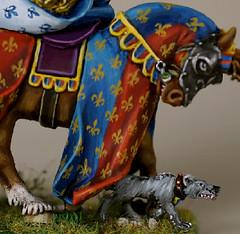 Damsel Barded Detail (seaottre68) Tags: horse dog metal citadel hound games age workshop damsel bretonnia sigmar barded
