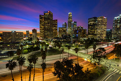 Good Morning DTLA (Shabdro Photo) Tags: skyline sunrise cityscape lighttrails dtla downtownlosangeles laskyline downtownsunrise dtlaskyline ©shabdrophoto