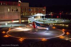 Helijet Medevac (Jason Pineau) Tags: night hospital dark lights chopper bc britishcolumbia air ambulance helicopter sechelt heli sunshinecoast helo stmarys helijet medevac medivac cgchj