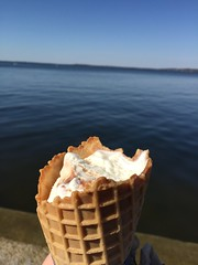 Ice cream cone (ilamya) Tags: lake wisconsin campus cone union madison icecream mendota