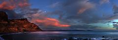 agia galini evening 8b 3p (Bilderschreiber) Tags: sunset sea panorama water rock dawn evening abend coast meer wasser sonnenuntergang hellas kreta greece crete fels griechenland küste agia galini