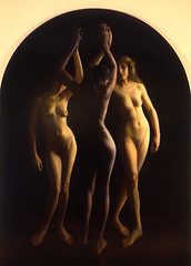 Steven Assael  Three Graces, 2009. Painting: Oil on canvas. Three womenFemale nudeMythologyThree Graces (ArtAppreciated) Tags: light shadow art beauty female portraits painting naked nude living three women contemporary fineart great blogs american artists classical steven mythology neoclassicism bodies figurative graces throwback realism themes 2000s mythological artblogs tenebrism assael tumblr artoftheday artofdarkness date2009 artappreciated artofdarknessco artofdarknessblog