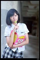 nEO_IMG_DP1U7196 (c0466art) Tags: school light portrait girl rain canon naughty campus high nice uniform slim natural outdoor quality gorgeous figure tall lovely charming pure 1dx hoigh c0466art