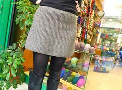 Knitting in pure wool is love (sifis) Tags: art love shopping lumix knitting skirt athens panasonic greece lx7 sakalak