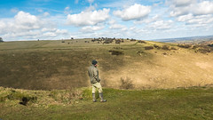 Enjoying the view (Marlytyz) Tags: man nature beauty clouds landscape outside person view watching spot admiring devilsdyke