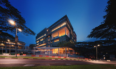 AS8, National University of Singapore (gersunchan) Tags: sunset panorama building architecture night twilight singapore university national dri hdr nus absolutearchitecture digitalblending nusps nodalninja