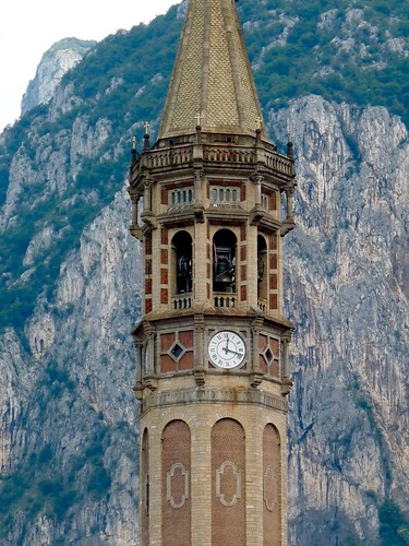 The Bell Tower of the Basilica di San Nicolò, Lecco, Lombardy, Italy