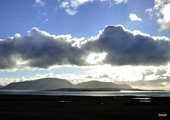 An Interesting Spring Cloudscape (orquil) Tags: uk greatbritain light panorama lighthouse seascape silhouette clouds reflections landscape island islands evening march scotland boat spring nice interesting orkney view scenic farmland hills cumulus attractive western hoy late cloudscape foreground lochan scapaflow lowlying graemsay orcades