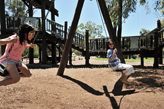 Swing | Perth, Western Australia (Ping Timeout) Tags: park city family summer vacation holiday playground kids mom fun drive downtown play outdoor oz dr capital under may australia down visit swing kings perth area western wa cbd recreation trisha synergy parkland ervina