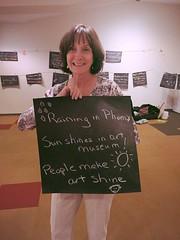Raining in Phoenix, Sun shines in art museum! People make art shine  @phxart #phxartfamily #haiku #phxhaiku #phoenix (ghm575) Tags: phoenix haiku phxartfamily phxhaiku
