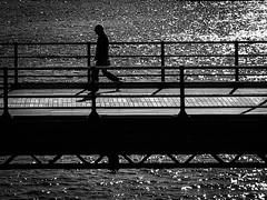 Southport (Mark Dickens) Tags: blackandwhite silhouette southport marinelake southportpier