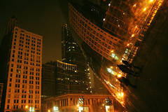 IMG_1682 (The diary of Blue Shoes!) Tags: world street travel winter sky usa snow chicago reflection architecture night buildings pier illinois view theatre earth north streetphotography northamerica snowing traveling february thebean sculptures steppenwolf estadosunidos theatredistrict  thecloudgate