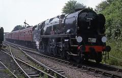 34016 at Ropley, Mid Hants Rly. June 1988 (Brit 70013 fan) Tags: heritage pacific railway hampshire steam british railways mid steamengine westcountry bodmin britishrailways ropley hants bulleid 34016 exsr exbr