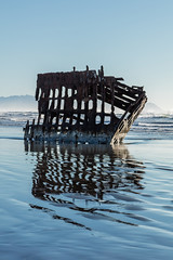 2016-01-10 - Peter Iredale Shipwreck-16 (www.bazpics.com) Tags: ocean sea usa beach water oregon america skeleton sand ship pacific or wave peter shipwreck frame hull wreck iredale