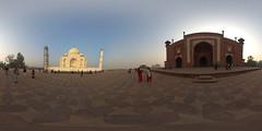 Taj Mahal Panorama (jeglikerikkefisk) Tags: panorama india taj tajmahal agra indien rajasthan 360 sphericalpanorama equirectangular kugelpanorama sphrischespanorama