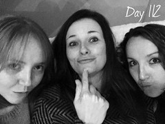 """Project 365(+1) - Day 112 """"Failed to take a photo so used a throwback! Dinner at Hev and LJ's after work #awesomefoursome"""" (sophie_close) Tags: day112 project365 365project"""