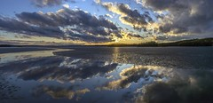 Reflections (Kari Siren) Tags: sky panorama cloud lake reflection ice finland spring jaala karijarvi
