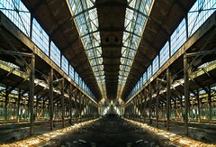 fantasy ... two light beams (iv) ...Land of steel constructions (XIII) (mariuszj8) Tags: abandoned architecture factory steel constructions elitegalleryaoi bestcapturesaoiland