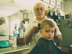 Ken's Barber Shop 8.jpg (mtungate) Tags: 2002 film vintage magazine idaho boise casio barbershop nik windowsxp barberpole