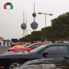 Kuwait Mopar Club Gothering March 2016 Kuwait Towers (Abdullah Rashed - KWT ( excuse 4 slow replies)) Tags: sport club march jeep cloudy muscle towers dodge kuwait chrysler activity charger challenger 2016 browler viber iphone6 moparkuwait kuwaitmoparclub