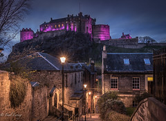 Edinburgh Castle (Paul S Ewing) Tags: wall scotland town edinburgh cityscape purple edinburghcastle starburst