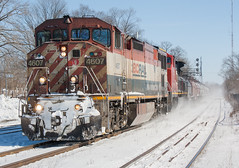 BCOL 4607 West, CN 331 (Joseph Bishop) Tags: railroad train track tracks rail railway trains rails ge railfan brantford 4607 bcol c408m cndundassubdivision