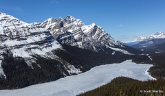 Frozen Peyto Lake (Scott Martin Calgary) Tags: ca canada mountains alberta jaspernationalpark peytolake bowsummit improvementdistrictno9