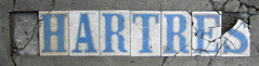 [C]hartres - street name tiles in the sidewalk - French Quarter, New Orleans (Monceau) Tags: street blue white broken name neworleans sidewalk tiles frenchquarter cracks chartres