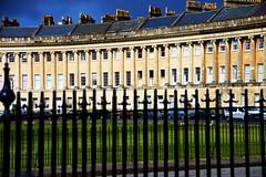 Royal Crescent Bath 2 (Russ Argles) Tags: street canon fence eos bath crescent roofs railings chimneys 70d
