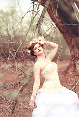 Looking Forward to Spring (Kelly McCarthy Photography) Tags: flowers trees woman tree clock beautiful beauty fashion vintage pose outdoors model dress bokeh victorian feathers makeup style retro redhead gloves tophat corset redhair petticoat steampunk bokehwhores
