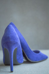 113/366: Don't you step on my blue suede shoes (judi may) Tags: blue grey shoes dof depthoffield heels stilettos bluesuedeshoes whyamidoingthis greybackground canon7d day113366 366the2016edition 3662016 april2016amonthin30pictures 22apr16