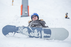Lord of the Boards (Bas Bloemsaat) Tags: winter white snow ski cold sports smile snowboarding snowboard