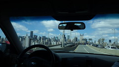 Grand Day: NYC by Car Toward the Bronx (catchesthelight) Tags: building skyscrapers manhattan bluesky views queensborobridge 59thstbridge newyorkcityny springvisit travelbycar edkochbridge april2016