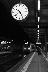 Night train (tom.leuzi) Tags: street light people blackandwhite bw reflection train 50mm schweiz switzerland track leute dof carriage gare bokeh f14 eisenbahn rail railway zug bahnhof menschen outoffocus line trainstation locomotive schwarzweiss personen lokomotive geleise schiene wagen fahrleitung contactwire canoneos6d sigmaart sigma50mmf14dghsmart