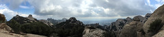 Montserrat pano (Jean I Cresol) Tags: mountain landscape outside outdoors march spring spain europe view walk religion 18th hills holy montserrat 2016 iphone6