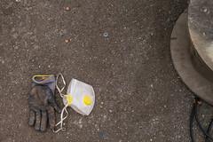 Boat building work gear (clogette) Tags: england building bristol mask unitedkingdom gb glove harbourside boatyard underfallyard igersbristol igersmeetvisitbristol