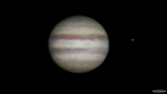 Jupiter and Io (AstroGuiGeek) Tags: light sky lumire space satellite astro io telescope ciel astrophotography planet astronomy planetary jupiter espace skyatnight t3i astronomie plante 600d astrophotographie lxd75 canonphotography tlescope cieltoil cieldenuit eos600d canoneos600d rebelt3i astroguigeek franceastronomie astro2016