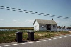 untitled (inafreeland) Tags: abandoned film trash 35mm bay newjersey nj wires shack jerseyshore oceancounty kodakgold200 canoneoselan7e mayetta
