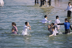 Kids love the sea (Dan_lazar) Tags: sea holiday water kids port religious israel tel aviv celebration orthodox  passover