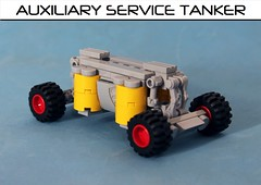Auxiliary Service Tanker (Brizzasbricks) Tags: classic lego space cargo tanker cryogenic classicspace