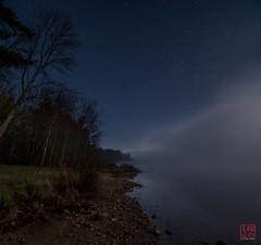 Mist Creeps In (Mitymous) Tags: longexposure moon mist fog night moonlight tullylake spring2016