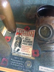 Save libraries (reds on tour) Tags: scotland war honeymoon mask libraries shell gas poppy poppies posters worldwarone oban gasmask librarians ww1 museums heb hebrides worldwar1 anzacs highlanders