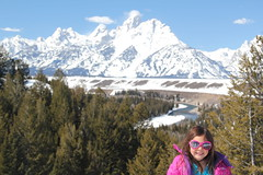 Jovie at the Snake River Overlook 2 (Aggiewelshes) Tags: travel winter snow april wyoming jacksonhole jovie grandtetonnationalpark 2016 gtnp snakeriveroverlook