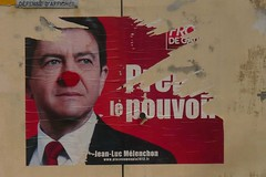 Elections 2012 (mistigree) Tags: toulouse affiche lection nezrouge mlenchon