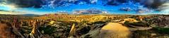Sun down (1seeu) Tags: sunset panoramic cloudporn cappadocia rockformations fairychimney worldwonders