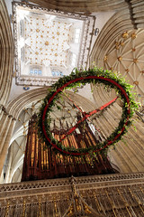 York Minster, the advent wreath (alh1) Tags: york england adventwreath yorkminster northyorkshire