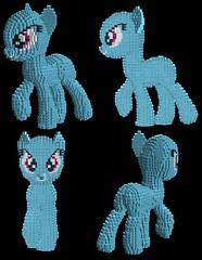 Rainbow Dash WIP 6 - Ears (technoandrew) Tags: statue digital work rainbow lego little designer pegasus progress wip pony dash figure mlp moc ldd my equestria brony