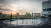 Platinum Hotel Swimming Pool (Budiman Lays) Tags: sunset sky building pool hotel swimmingpool borneo platinum hdr kalimantan balikpapan eastborneo kaltim