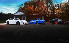 Porsche(s) (Andrew Barshinger Photography) Tags: auto cars canon 911 porsche cayman bagged rotiform canibeat firstclassfitment