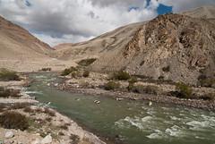 Pamir River - very close and very far to Afghanistan (Michal Pawelczyk) Tags: trip holiday afghanistan mountains bike bicycle june nikon asia flickr aim centralasia pamir afganistan gory wakacje 2015 czerwiec azja d80 pamirhighway gbao azjasrodkowa azjacentralna